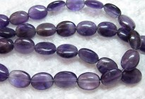 """Salable loose gemstone natural amethyst oval beads 16"""""""