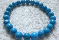 Natural semi precious stone turquoise beaded bracelet