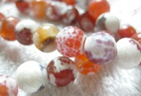Fashion semi precious stone fire agate round beads for jewerly accessories