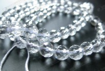 loose quartz strand 4mm gemstone faceted round beads