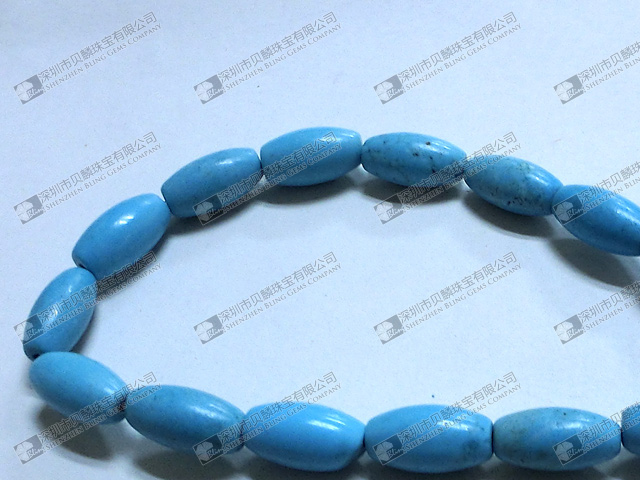 Loose stone barrel beads