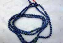 Natural lapis with malachite round beads necklace
