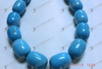 Staiblized turquoise barrel loose beads