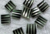 8x8mm black onyx with mother of pearl mosaic square shape