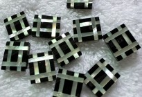 loose stone mother of pearl & Black onyx mosaic for setting
