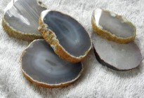 Natural agate slice