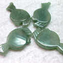 green aventurine bird shaped