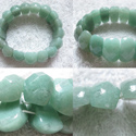 faceted green aventurine bracelet