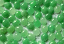 10x12mm dyed green jade oval cabochon for jewelry