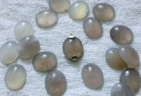 12x16mm natural grey agate loose beads