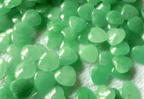 natural dyed green jade heart shape for jewelry making