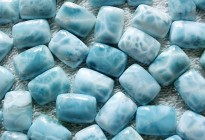 natural larimar rectangle cabochon