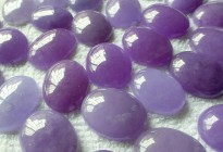 natural semi precious stone dyed purple jade loose cabochon