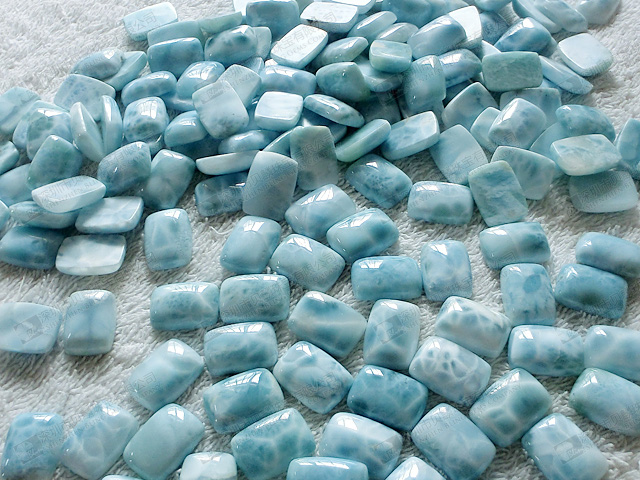 natural stone larimar for jewelry setting