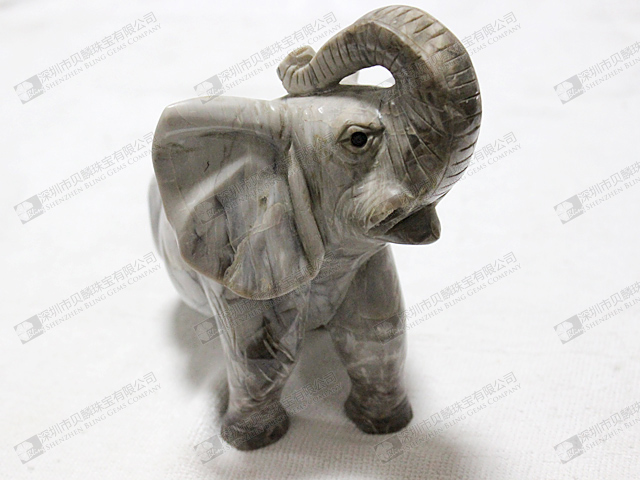 Wholesale gemstone animal carvings elephant carving bling gems co ltd Elephant home decor items