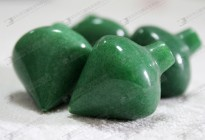 Green jade arrow beads for sale