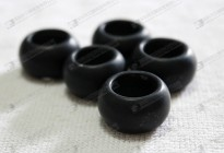Loose beads for pendants,matt black onyx rings for pendant making