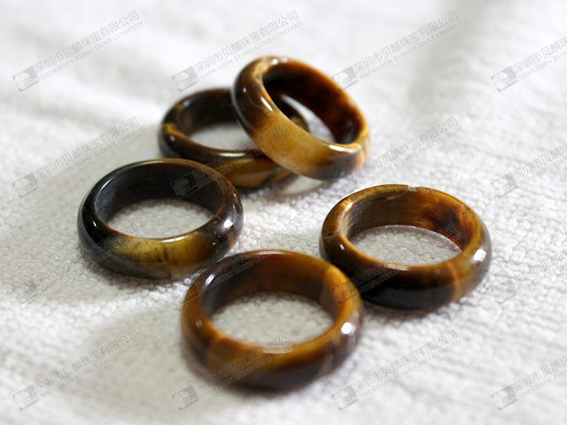 Jewelry Stones Tiger Eye Rings 22mm 虎眼石 171 Bling Gems Co
