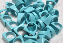Man made blue turquoise solid rings for sale 人造松石戒指