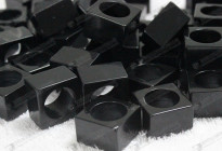 Loose stone,synthetic stone cubes wholesale 16mm 人造黑瑪瑙