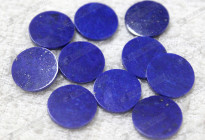A quality lapis lazuli round discs for dials