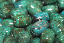 Good quality!Natural chrysocolla stone beads wholesale 鳳凰石