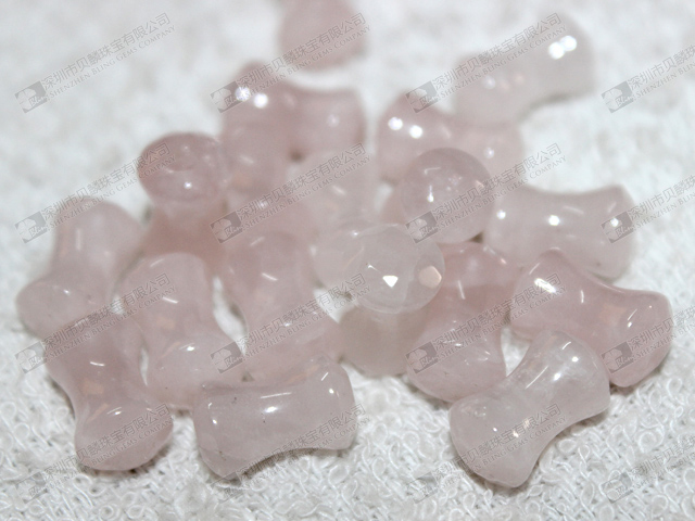 Hot sale natural rose quartz ear piercing jewelry,double flare ear plugs 粉晶耳塞