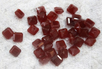 Semi precious stone beads,cushion beads for rings setting 紅瑪瑙