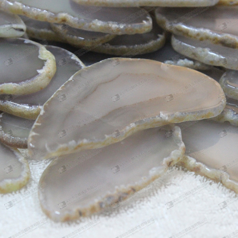 Natural grey agate slices agate coasters wholesale