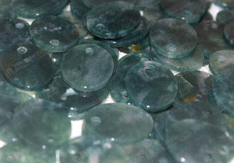 17x21mm Natural moss agate discs for jewelry making