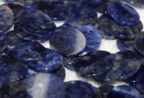 17x21mm,2mm thickness natural blue sodalite oval discs wholesale