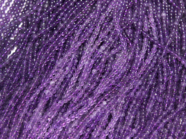 4mm Natural AA quality amethyst round beads strands,amethyst necklaces for sale