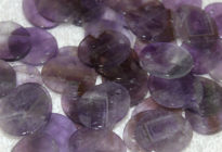Bulk wholesale purple gemstone cheap Amethyst Natural Amethyst discs