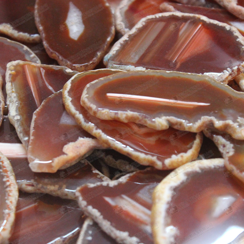 Red agate slices for pendants making,agate stone slabs for home decor